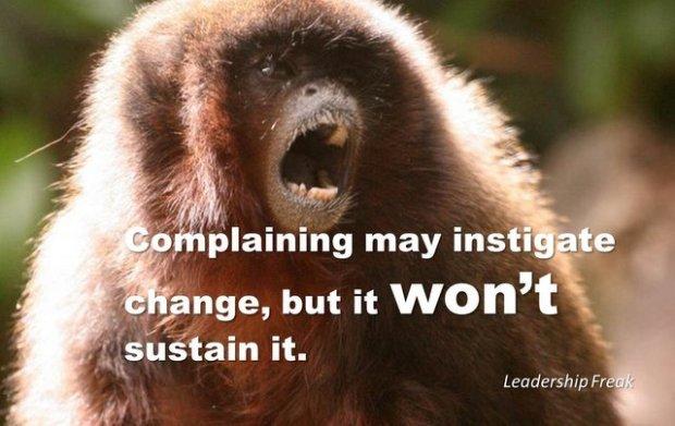 complaining monkey