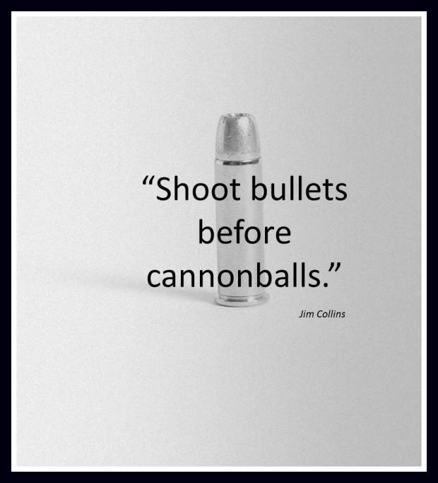 bullets before cannonballs
