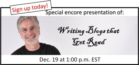 sign up today for writing blogs that get read encore presentation