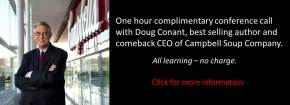 Conference call with Doug Conant