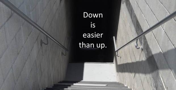 stairs going down