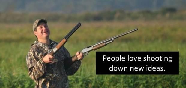 Shooting down