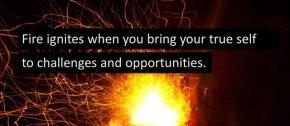 fire ignites when