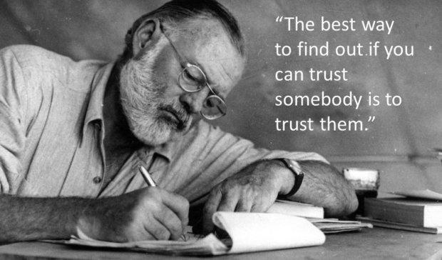 Hemingway on trust