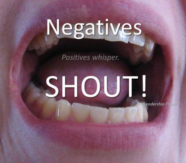 negatives shout