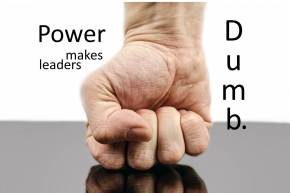 power makes leaders dumb