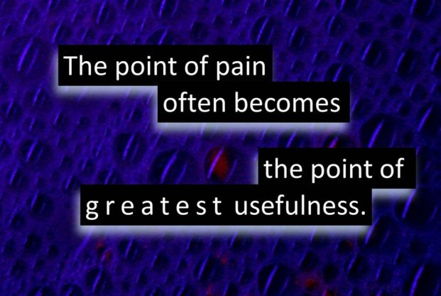 the point of pain