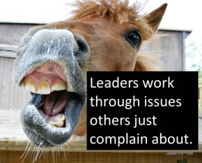 complaining horse