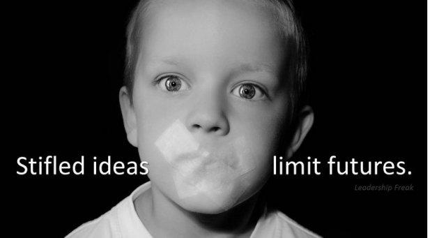 stifled ideas