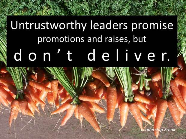 20 Habits of Untrustworthy Leaders
