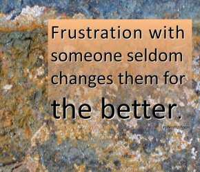 frustration with someone