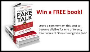 win a free copy of Overcoming Fake Talk
