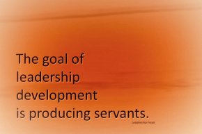the goal of leadership development