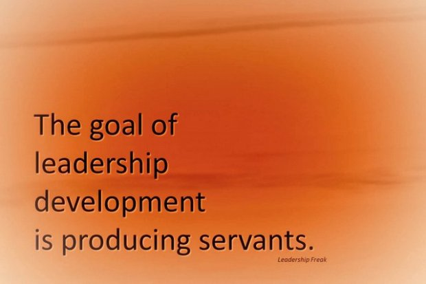 the goal of leadership development
