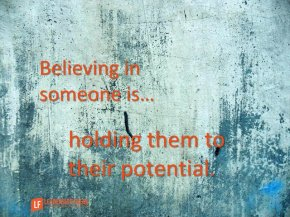 believing in someone