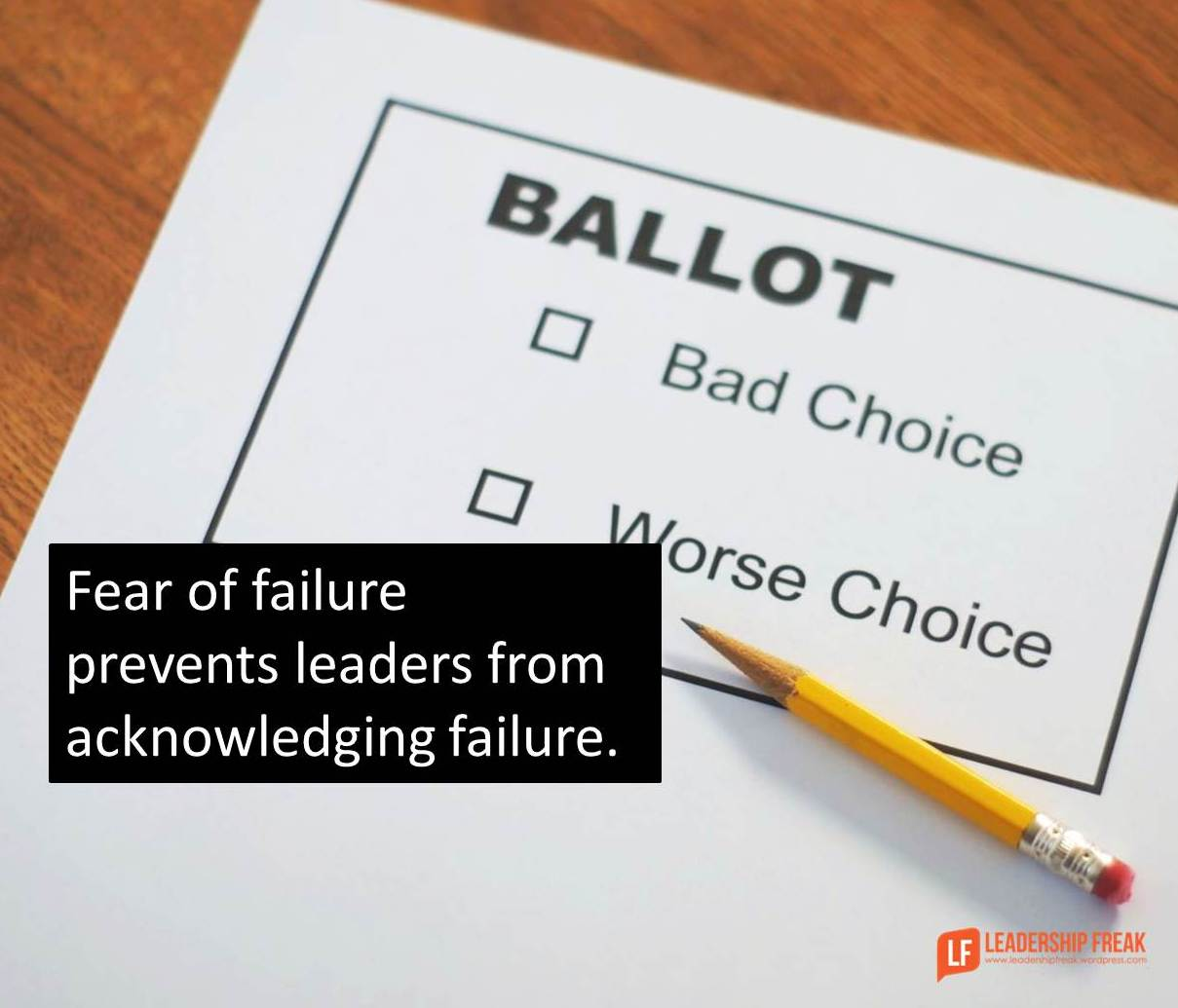 leadership failure Catastrophic leadership failure™: an overview henry l thompson, phd september 2007 why do smart leaders with proven track records sometimes suddenly begin making really bad decisions.