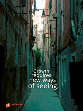 growth requires new ways of seeing