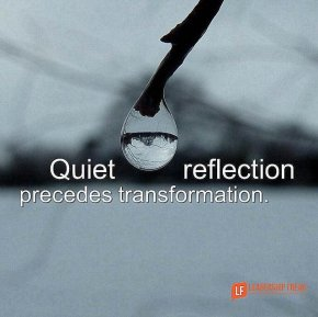 quiet reflection