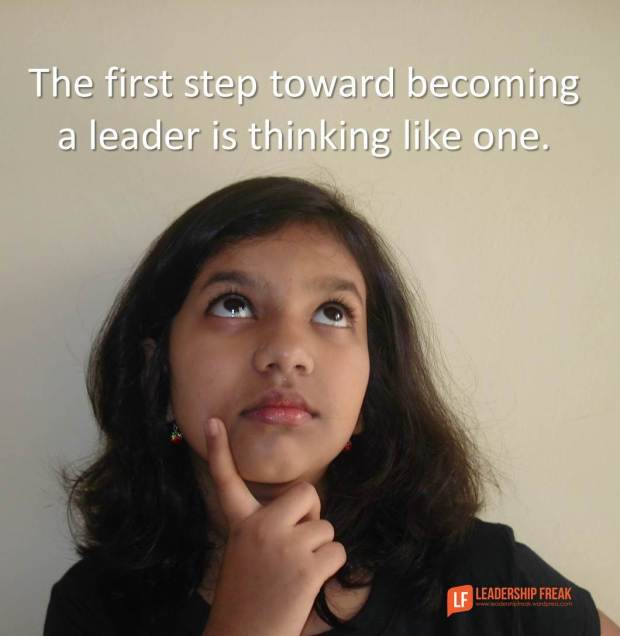 Thinking like a leader