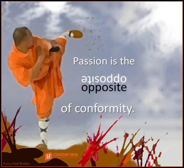 passion is the opposite of conformity