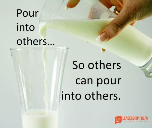 pour into others