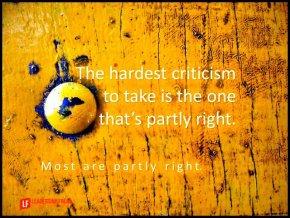 the hardest criticism