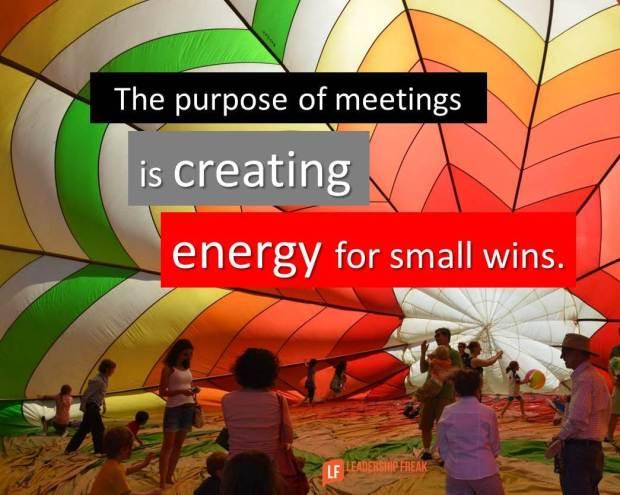 the purpose of meetings