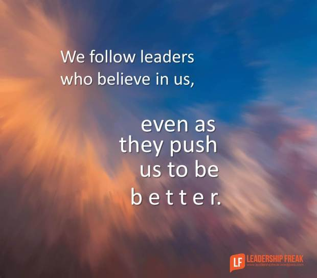 we follow leaders