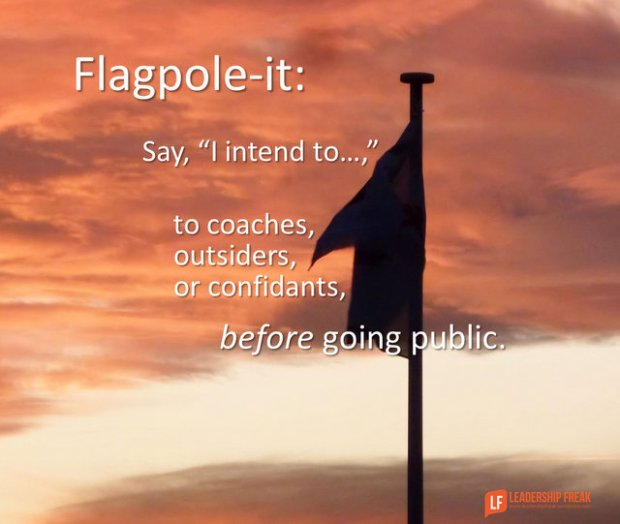 flag-pole it