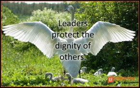 leaders protect the dignity of others