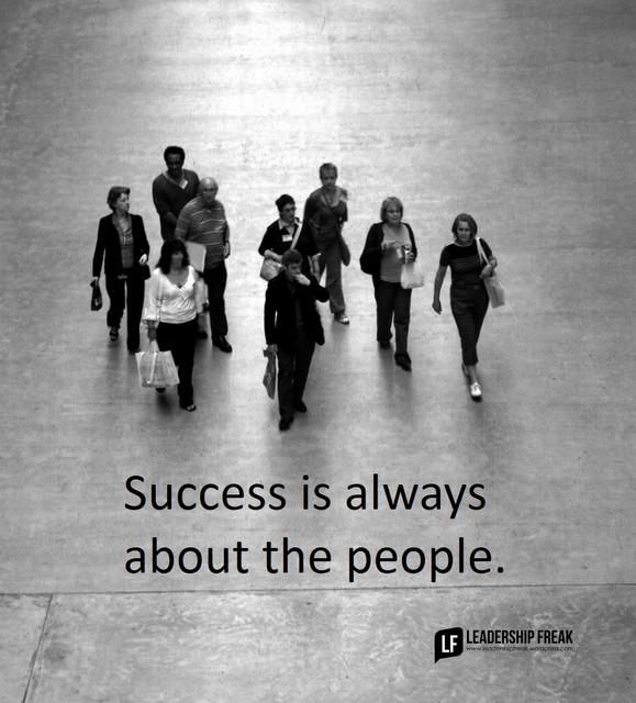 success is always about the people