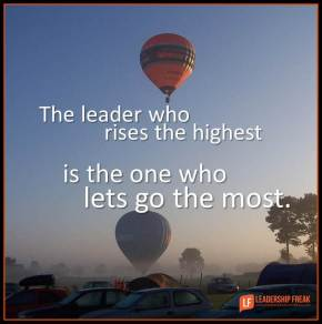 the leader who rises the highest