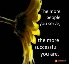 the more people you serve