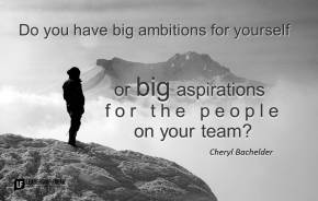 do you have big ambitions for yourself