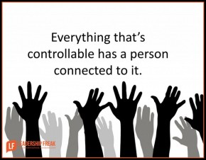 everything thats controllable has a person connected to it