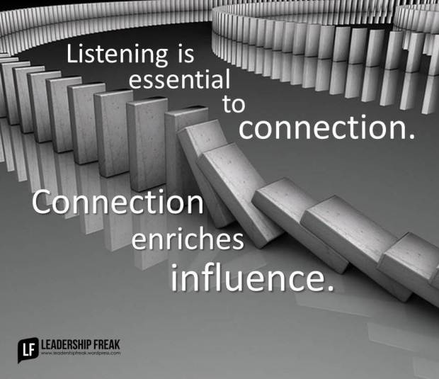 listening is essential to connection