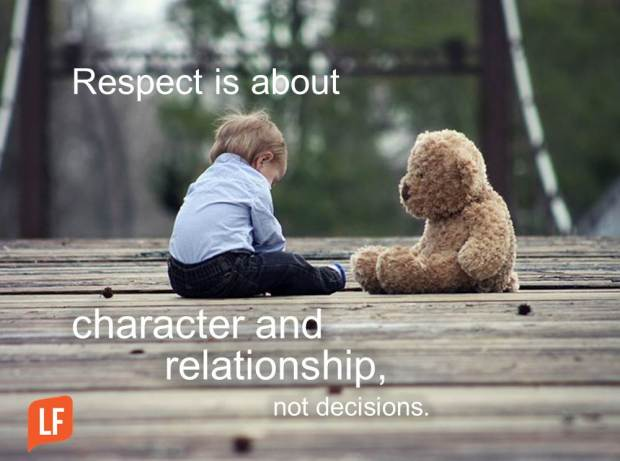 respect is about character and relationship