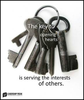 the key to opening hearts