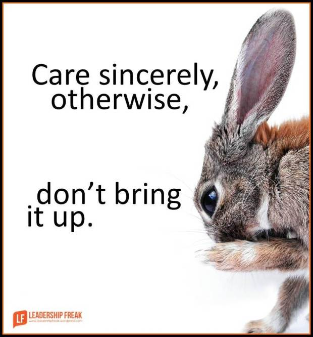 care sincerely otherwise don't bring it up