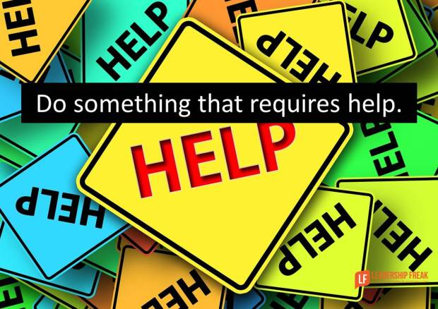 do something that requires help