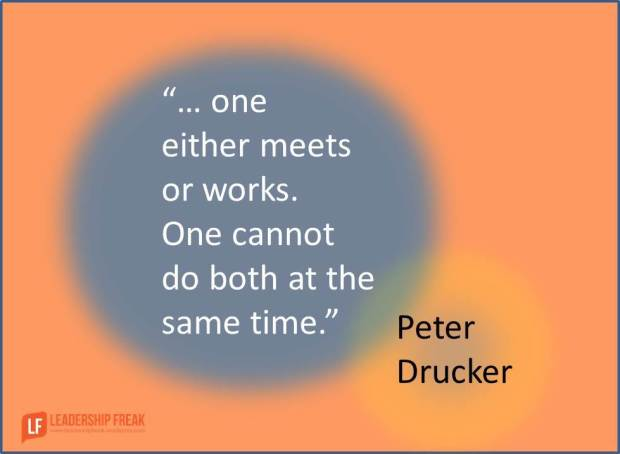 one either meets or works