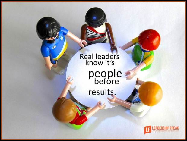 Real leaders know it's people before results