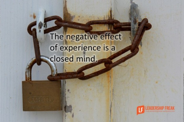 the negative effect of experience