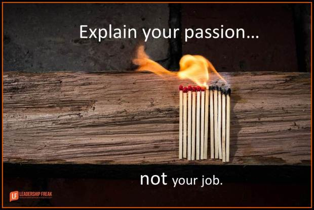 explain your passion not your job