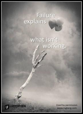 failure explains what isn't working