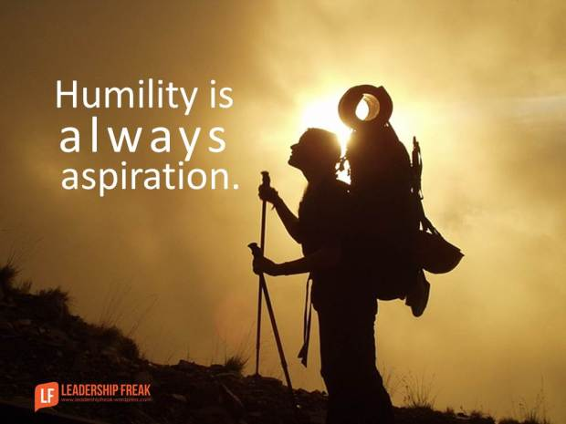 humility is always aspiration