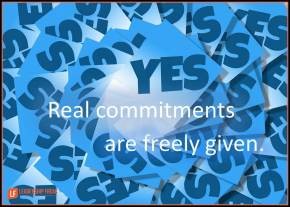 real commitments are freely given