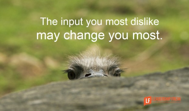 the input you most dislike may change you most-1