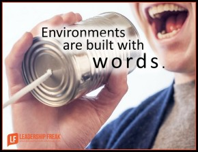 environments are built with words