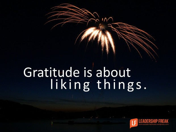 gratitude is about liking things
